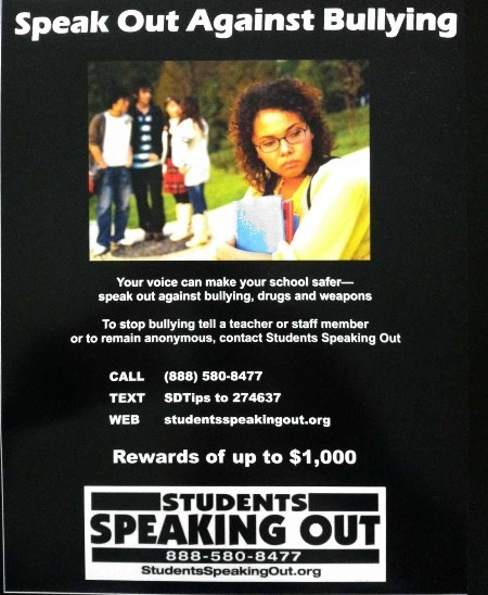 Speak Out Against Bullying flyer.JPG